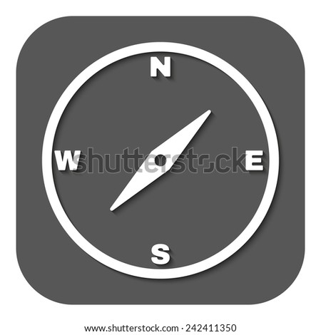 The compass icon. Compass symbol. Flat Vector illustration. Button - stock vector