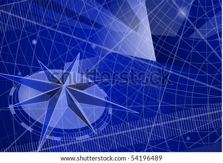 The compass. Vector template. - stock vector