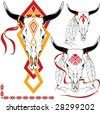 The complete set of colour vector sketches for tattoo - stock vector