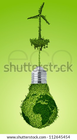 the concept of clean, green energy - stock vector