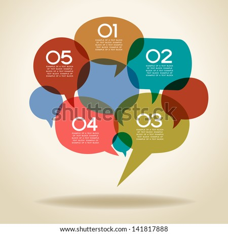 the concept of communication. Abstract infographics design with speech bubble. This work - eps10 vector file, contain transparent elements - stock vector