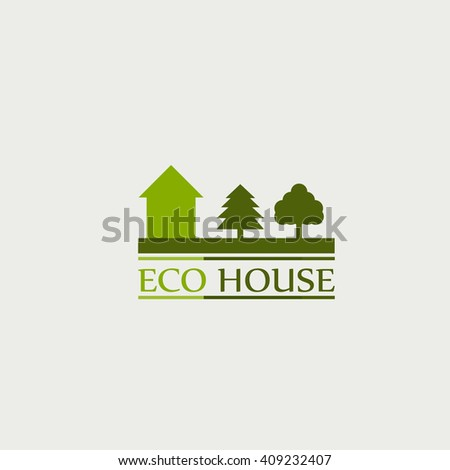 the concept of ecological house. logo.