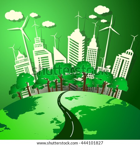 The concept of green energy from natural environmentally friendly.