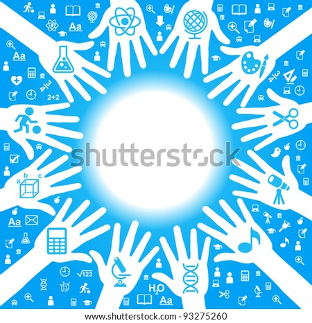 the concept of learning - stock vector