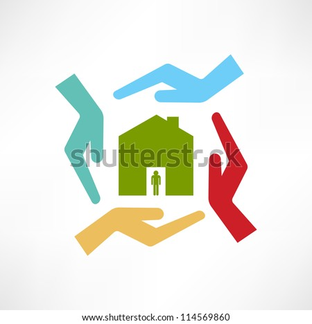 The concept of safe houses - stock vector