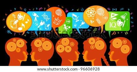 the concept of the learning process of children - stock vector