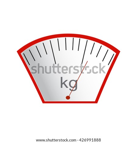 The concept of weight loss, healthy and unhealthy food. Arrow weights on scales.  Vector. Hand drawn - stock vector