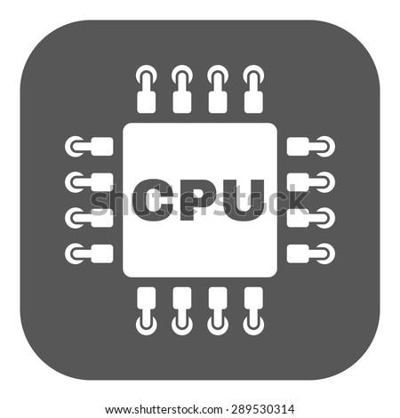The cpu icon. Microprocessor and processor symbol. Flat Vector illustration. Button - stock vector