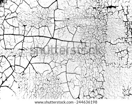 The Cracks Texture . Cracked Concrete . Cracked Ground . Cracked Wall . Vector Background . - stock vector