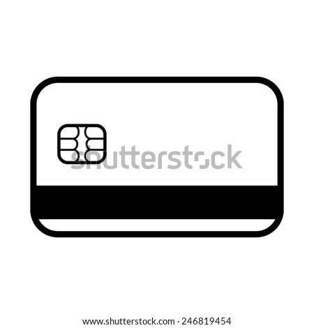 The credit card icon. Bank card symbol. Flat Vector illustration.