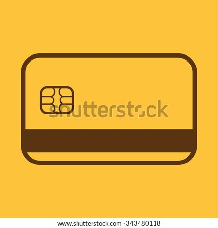 The credit card icon. Bank card symbol. Flat Vector illustration