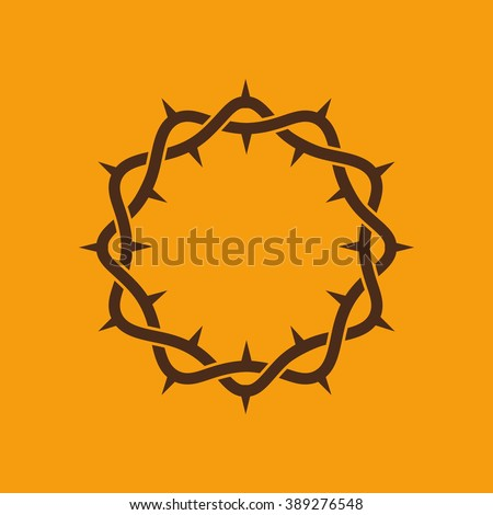 The crown of thorns of Jesus Christ - stock vector