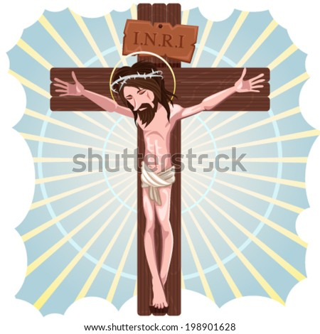 The Crucifixion of Jesus Christ - stock vector