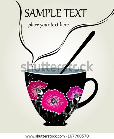 The cup of tea - stock vector