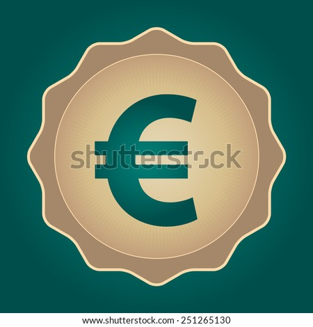 The currency sign of European Euro Symbol Badge, Label or Sticker