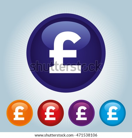 Currency Sign Pound Sterlin Symbol Badge Stock Vector Hd Royalty