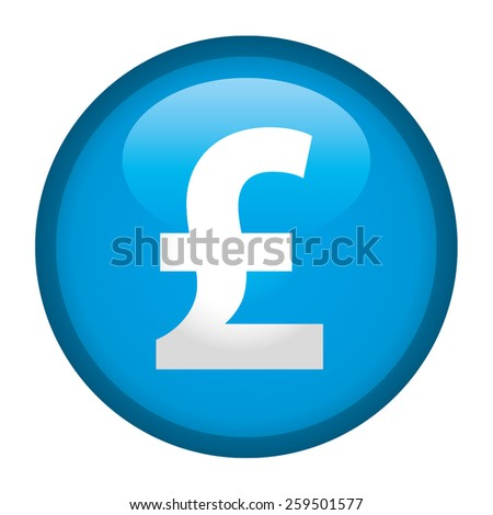 "The currency sign of Pound ""Sterlin"" Symbol Badge, Label or Sticker, Cyan"