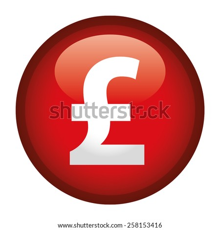 Currency Sign Pound Sterlin Symbol Badge Stock Vector 258153416