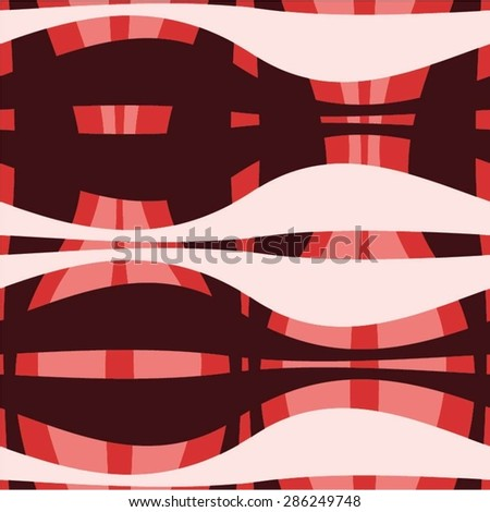 The curves of the strip in the pattern, mesh, seamless vector background. - stock vector