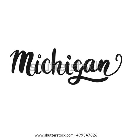 Custom hand lettering creative typography hand stock photo photo the custom hand lettering creative typography hand drawn greeting card with text michigan m4hsunfo