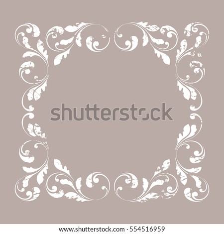 Decorative border creative vintage frame design stock vector creative vintage frame design for cards letters and greetings m4hsunfo