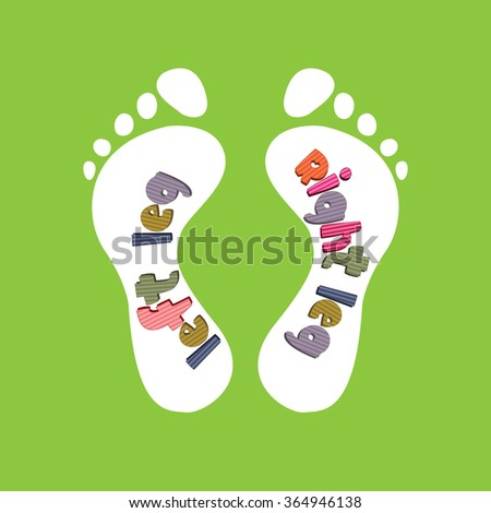 The design of children's insoles for shoes.