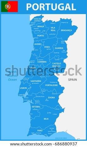 Portugal Region Map Stock Images RoyaltyFree Images Vectors - Portugal map jpg