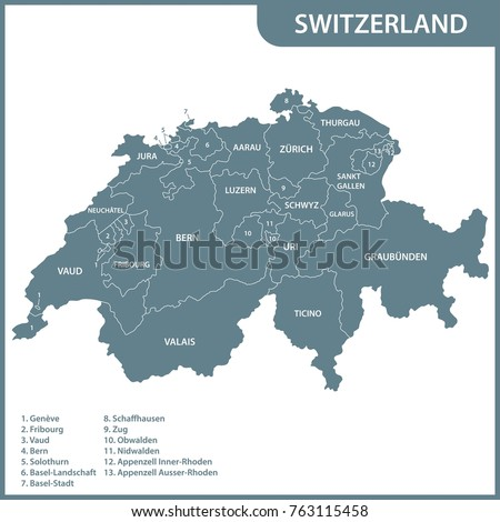 Map Of Schaffhausen Stock Images RoyaltyFree Images Vectors