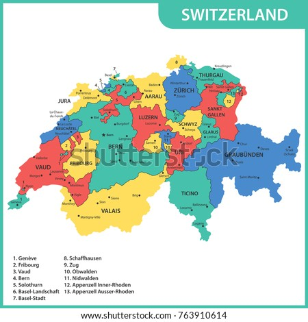 Glarus Map Stock Images RoyaltyFree Images Vectors Shutterstock