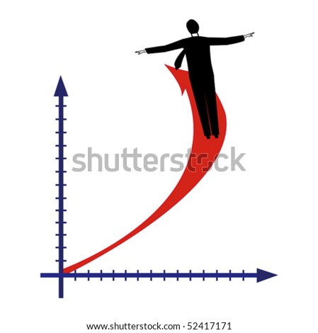 The diagramme of business success - stock vector