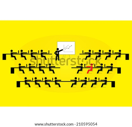 The different one. - stock vector