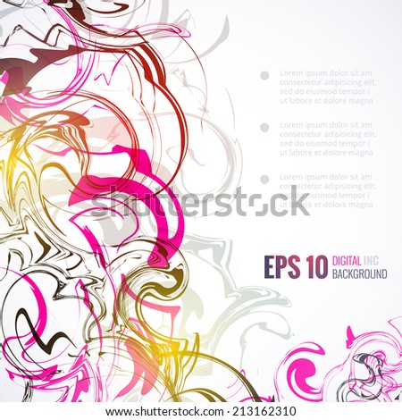 the digital were blackened by.vector illustration EPS 10