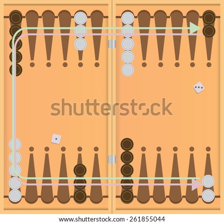 The direction of movement of chips.. Vector illustration. - stock vector