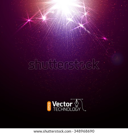 The discharge of electricity from the lightning and sparks - stock vector