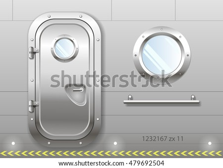 The door and window of the ship polishing metal. Perhaps the door compartment of the  sc 1 st  Shutterstock & Door Portal Entrance Stock Images Royalty-Free Images u0026 Vectors ...