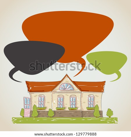 The drawn house. Vector illustration - stock vector