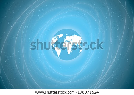 the earth in space. abstract background. view of earth from space. vector eps10 - stock vector