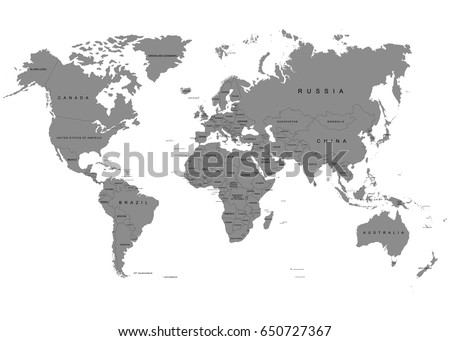 World Map Countries Stock Images RoyaltyFree Images Vectors - Black white world map