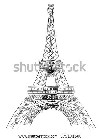 The Eiffel Tower sketch