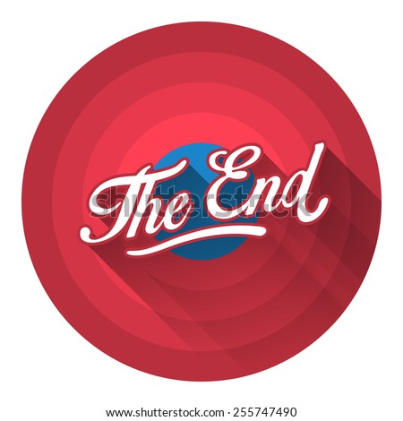 The End flat style icon - stock vector