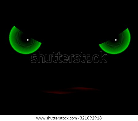 the evil eye - stock vector