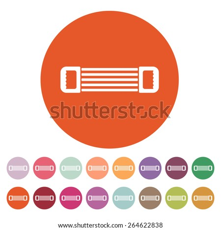 The expander icon. Expander symbol. Flat Vector illustration. Button Set - stock vector