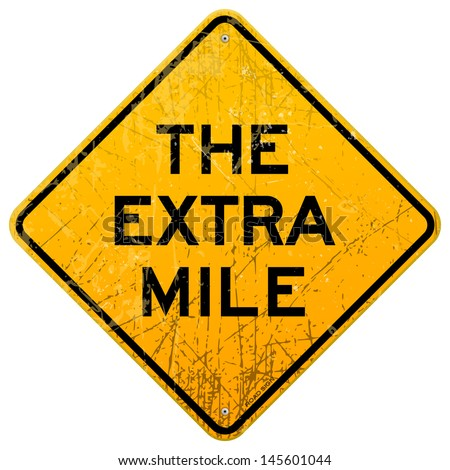 The Extra Mile - stock vector