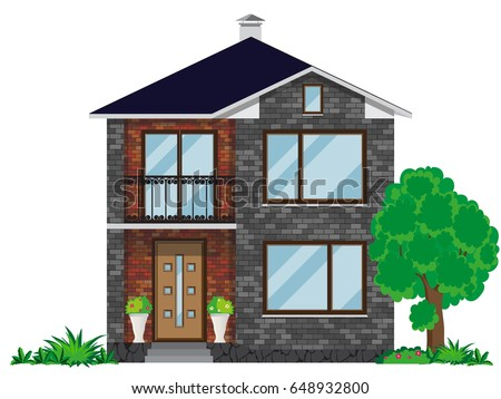 Two story stock images royalty free images vectors for Building a two story house