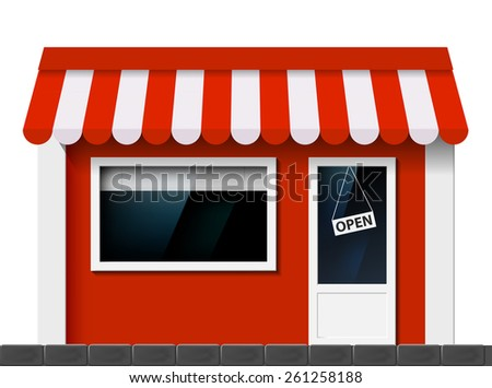 The facade of the building. Vector image of store. - stock vector