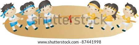 The Fall Field Day - stock vector