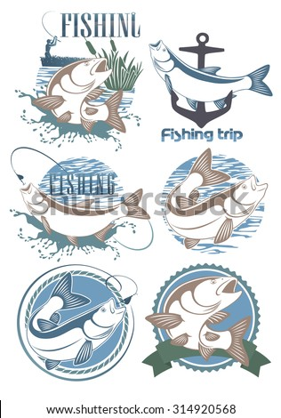 The figure shows a  fish chub - stock vector