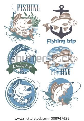 The figure shows a fish perch - stock vector