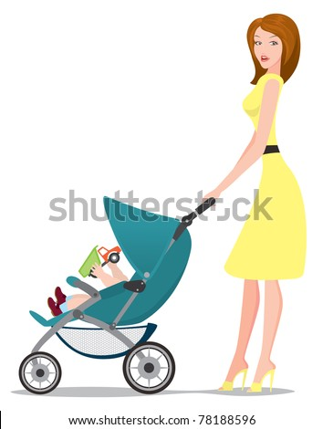the figure shows a girl with a baby