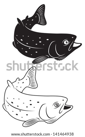 the figure shows a trout